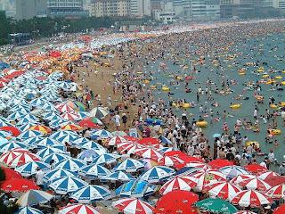 praia chinesa lotação esgotada