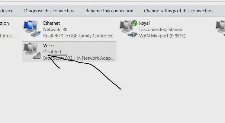 turn on wifi in windows 8.1 step by step 3
