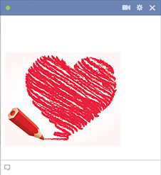 Heart Drawing for Facebook