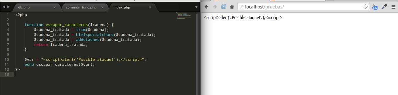 Evitando inyección de código en PHP