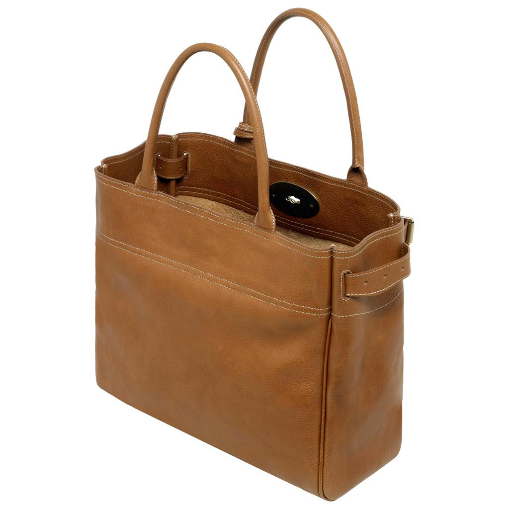 Коричневая кожаная сумка на плечо Mulberry купить за 44004