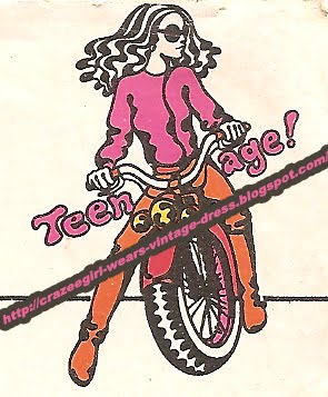 Teenage fashion logo - 1970 graphic design 70s