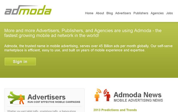 Admoda mobile advertising