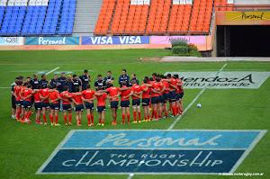 Pumas y Wallabies listos para jugar en Mendoza
