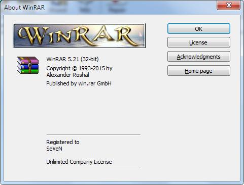 WinRAR 5.21 Full Version With Keygen 32 dan 64 Bit