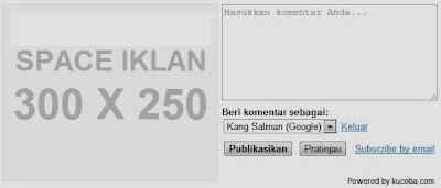 Memasang Iklan Di Sebalah Kolom Komentar (Editor Comment Ads)