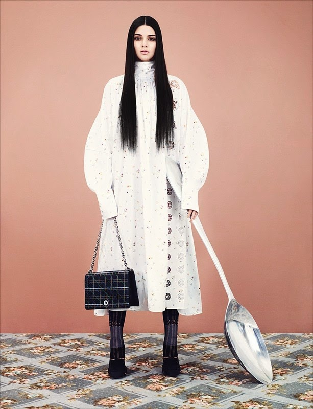 Dior  Photography Ben Toms, styling Robbie Spencer kendall jenner dazed and confused fashion shoot model spoon