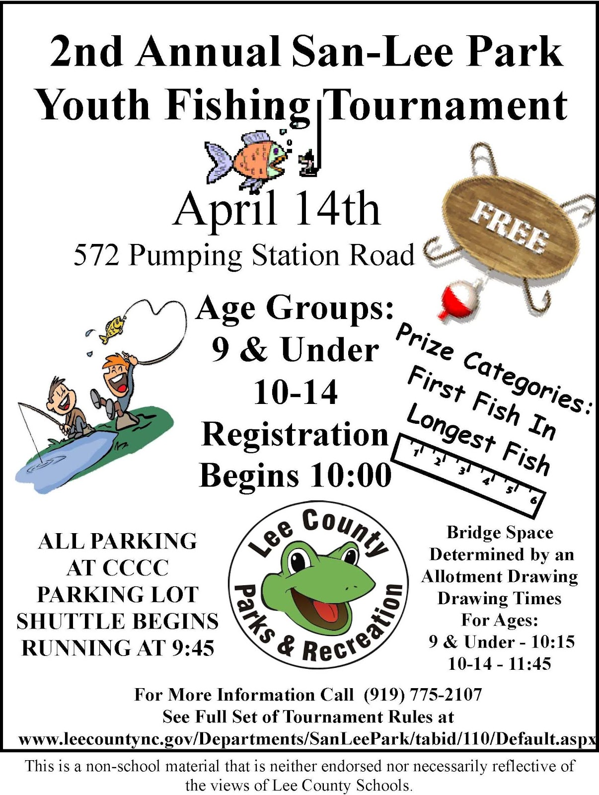 lee county government 2nd annual san lee park youth On youth fishing tournaments