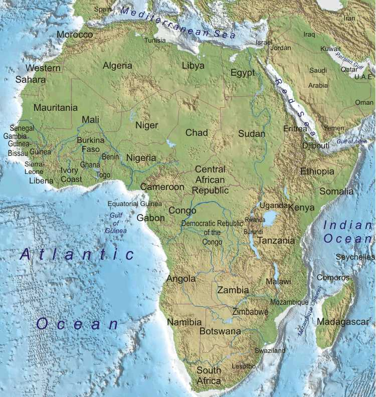 Mrs world map country map of africa region and country gumiabroncs Choice Image