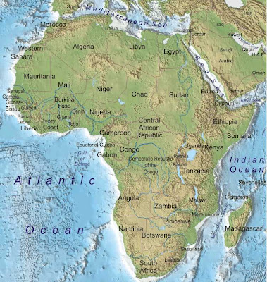 Map of Africa Region and Country