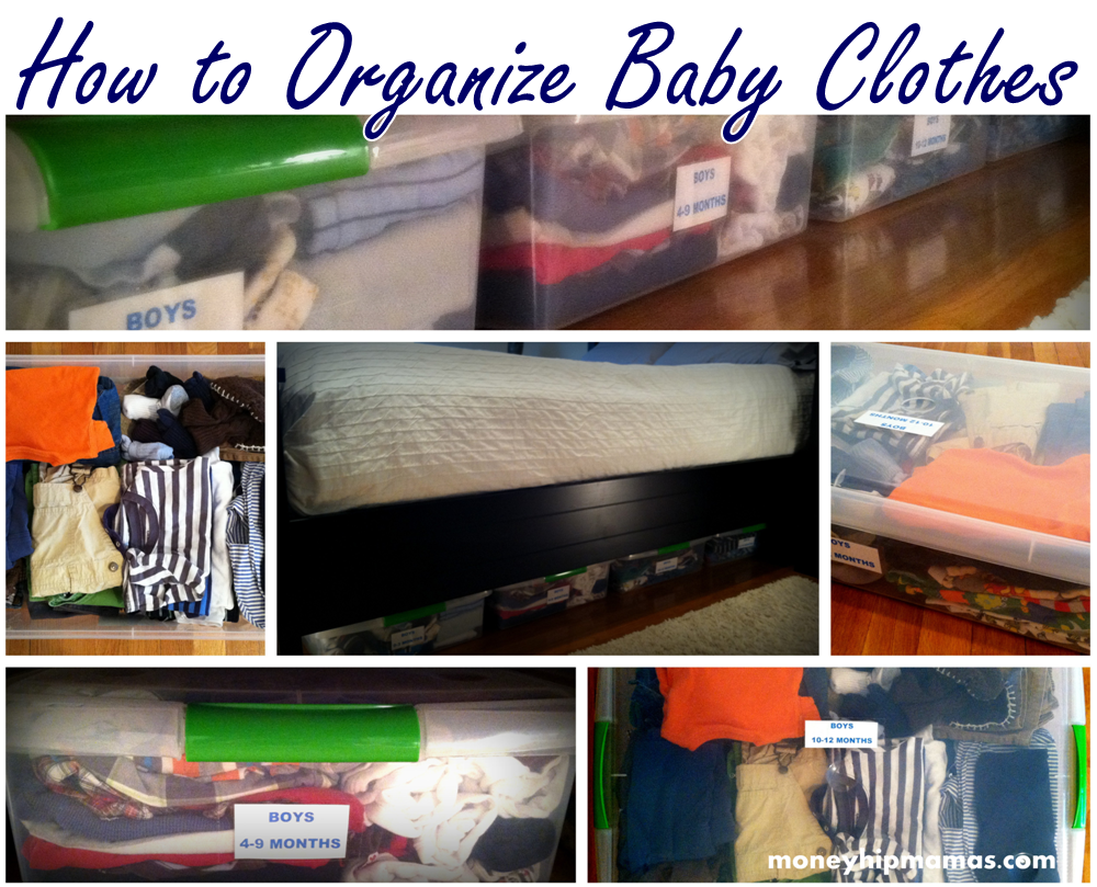 Money Hip Mamas The Ultimate Way To Store Baby Clothes