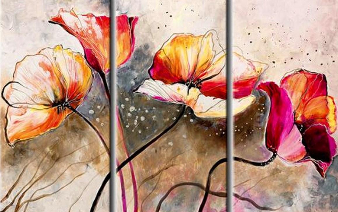 Imagenes De Cuadros Abstractos De Flores - Cuadros de Flores Grandes Tulipanes, Pinturas al Óleo