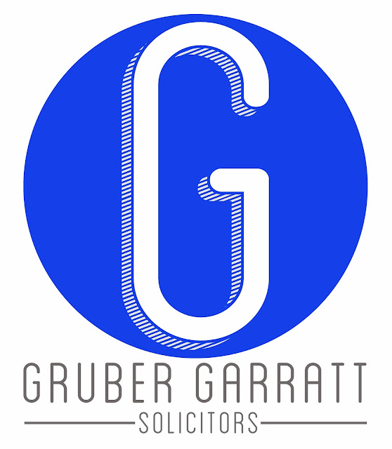 blue, Gruber Garratt, solicitors, lawyers, quality solicitors, letterhead, logos, logo, signprint, sign, type, text, font, green logo, industrial, legal practice, oldham