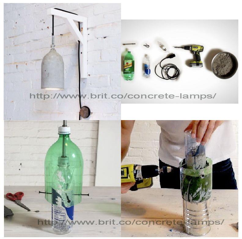 EL MUNDO DEL RECICLAJE DIY lámpara con botellas PET como molde