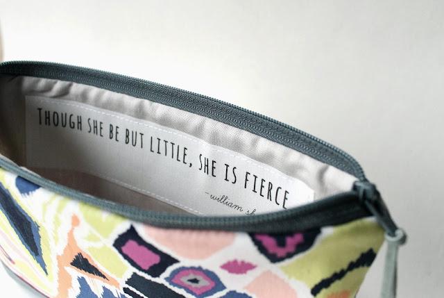 inspirational clutch bag