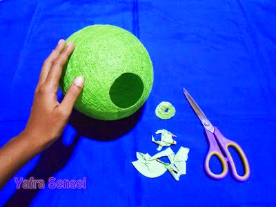 Asiknya Membuat Lampion Cantik dari Balon 8