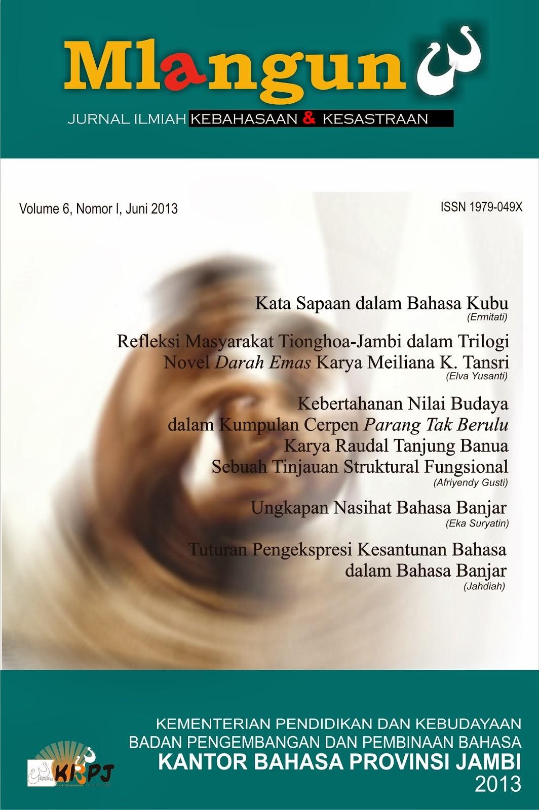 Volume 6, Nomor I, Juni 2013