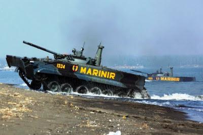 Tank Amfibi BMP-3F Korps Marinir TNI AL. PROKIMAL ONLINE Kotabumi Lampung Utara