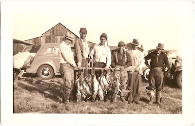 showing the days catch in rural California 1939 from collection of Bill Bean in Alameda