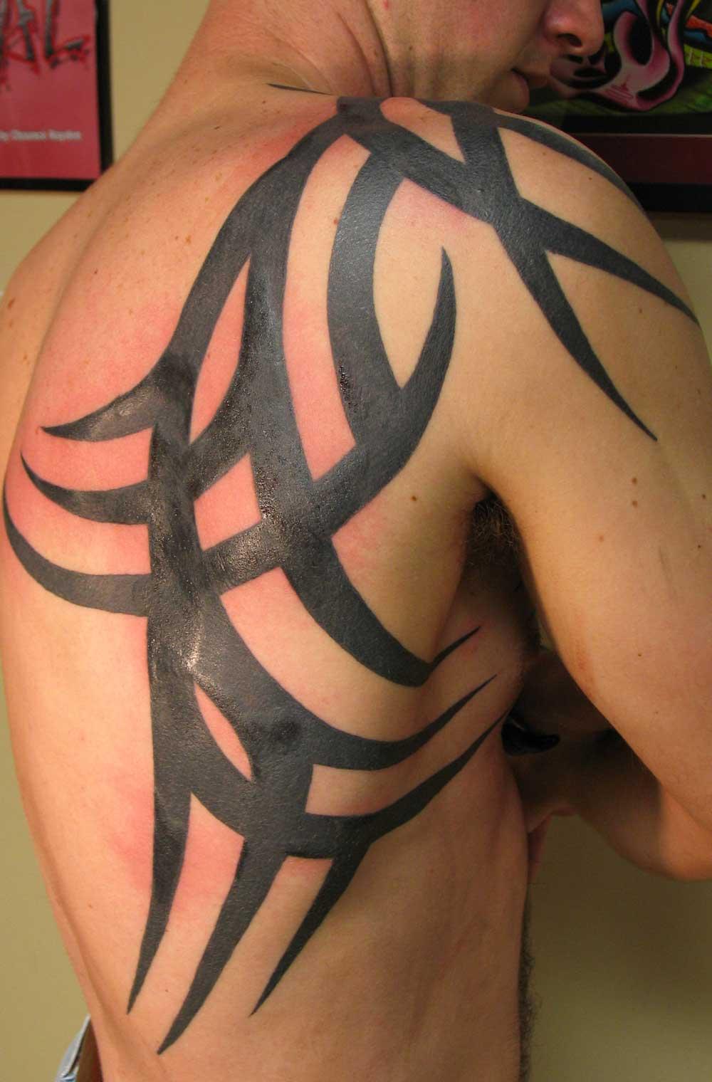 Tribal Shoulder Tattoos - 09