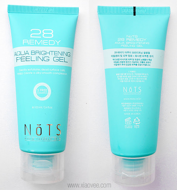 NoTS, NoTS skin care, NoTS Korean Skin care, NoTS Peeling Gel, NoTS 28 Remedy Aqua Brightening Peeling Gel, NoTS peeling gel review, 낫츠