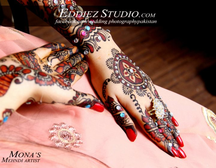 Bridal Mehndi Bunches : Colorful bridal mehndi by eddiez studio fashion shows