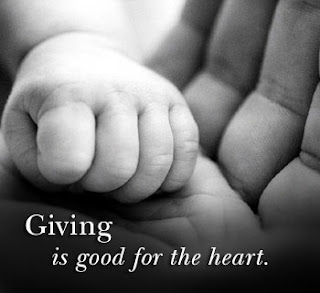 giving to someone