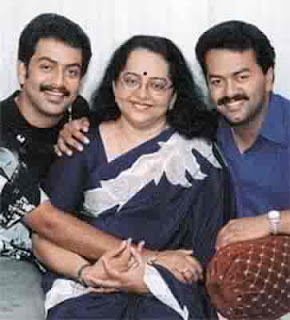 Indrajith with his mother and Brother