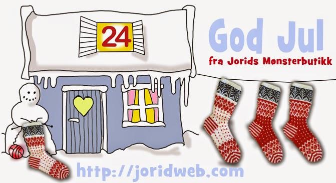 God jul fra Jorids mønsterbutikk