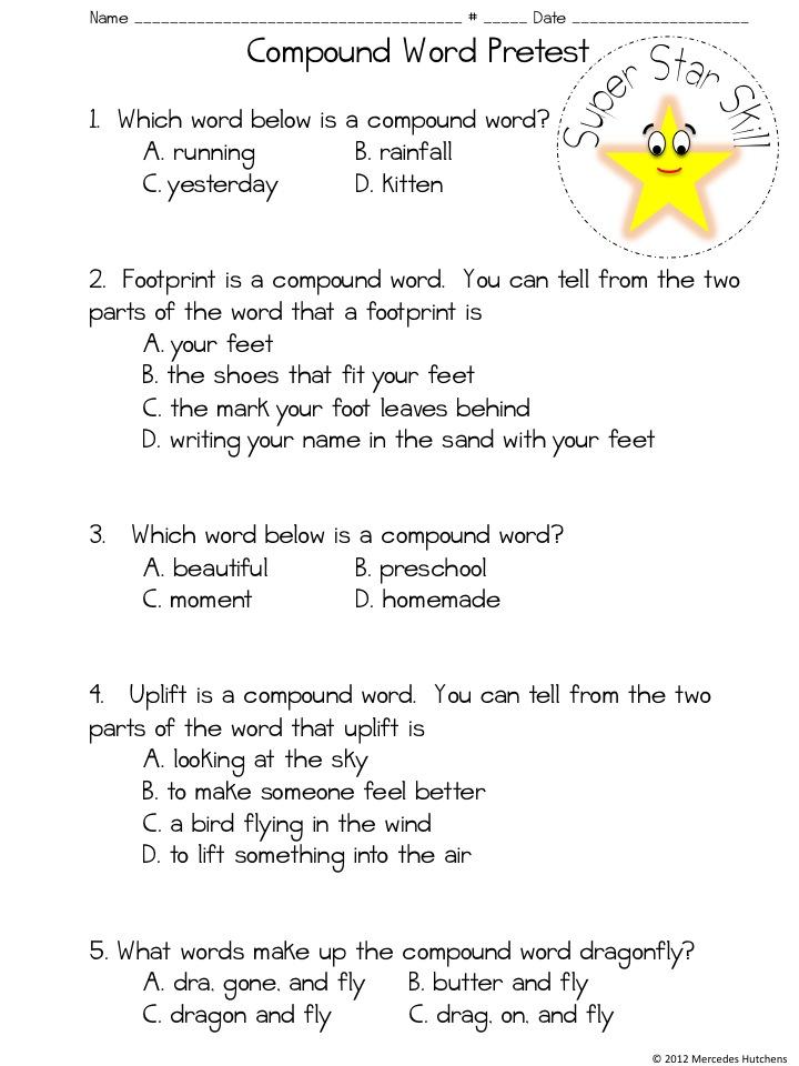 Christmas Compound Words Worksheet | newhairstylesformen2014.com