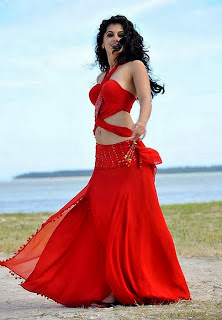 Tapsee Pannu in Red Dress Poses