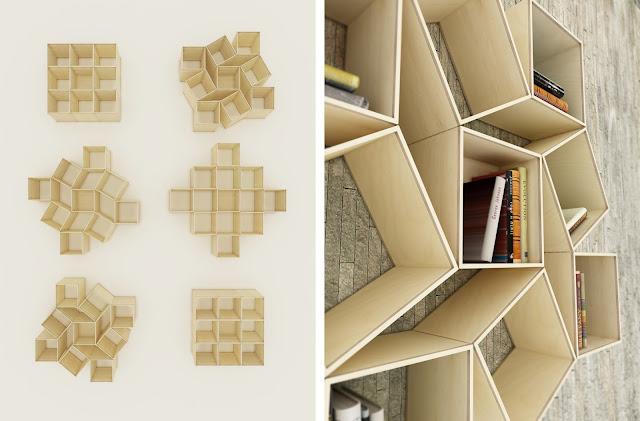 Estanter as de madera espacios en madera - Como hacer estanterias de madera ...