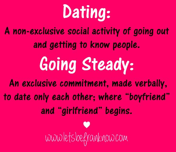 dating vs going steady