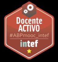 """Emblema """"Docente Activo"""" de #ABPmooc_intef"""