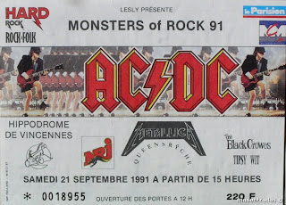 entrada de concierto del monsters of rock