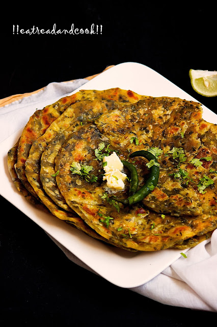 dried methi paratha recipe