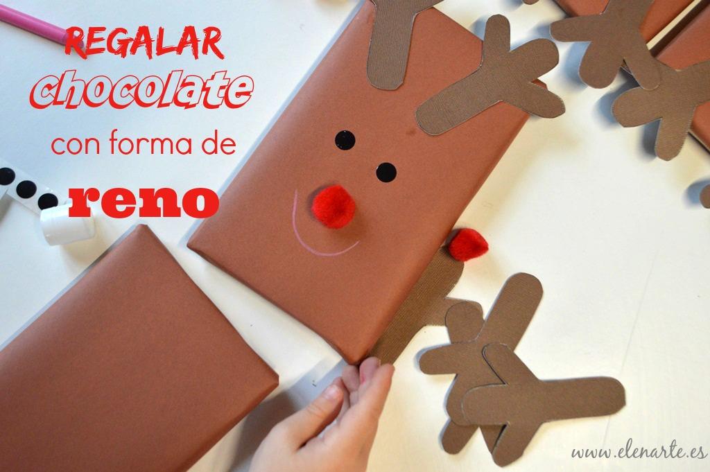 Regalar chocolate con forma de reno