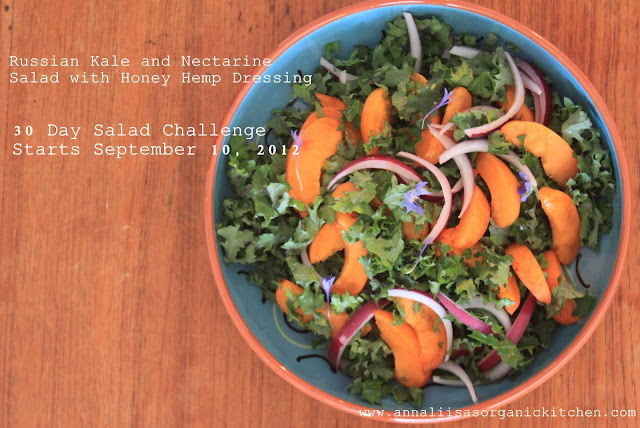 Kale salad, 30 days of salads challenge