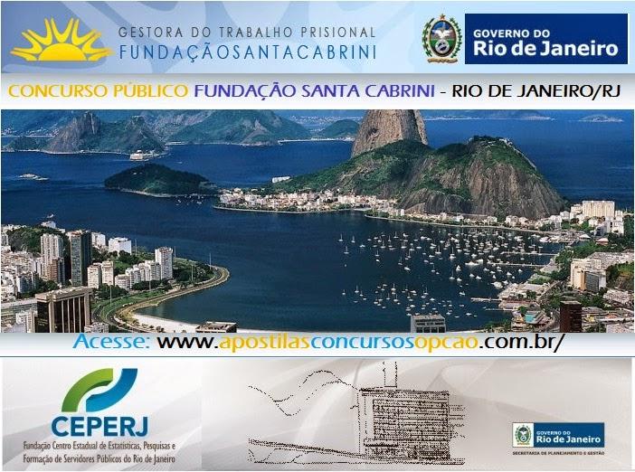 Apostila FSC - FUNDAÇÃO SANTA CABRINI/RJ - 2014