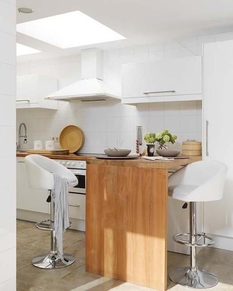 Decoracion facil cocinas peque as con islas - Cocinas pequenas cuadradas ...