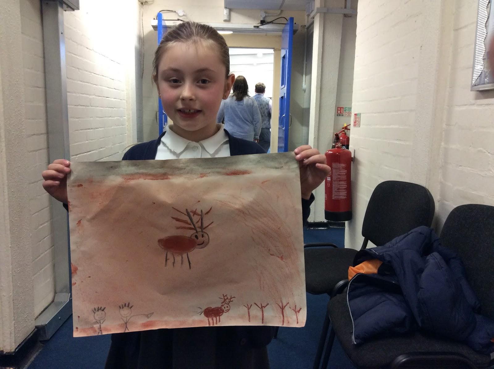 Year 3 - Stone Age Art :: Hilldene Primary School News