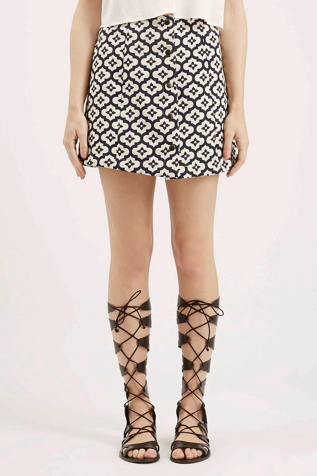 ikat print skirt, patterned mini skirt, topshop printed mini skirt,