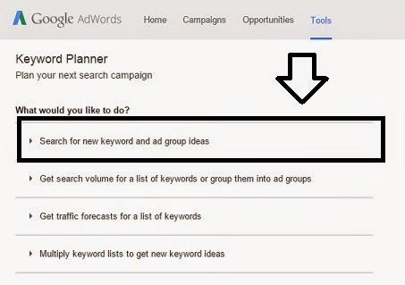Google Keyword Planner Tool 1
