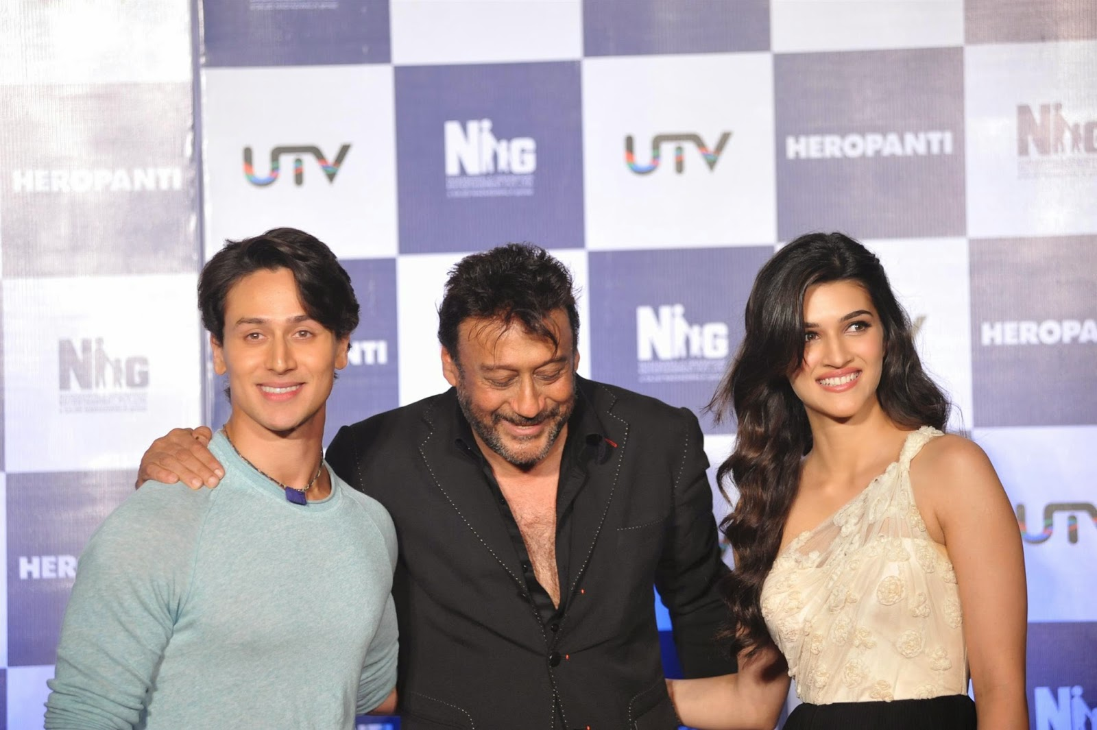 Karti Sanon, Tiger Shroff, Jacky Shroff at First Look Launch of Heropanti Movie
