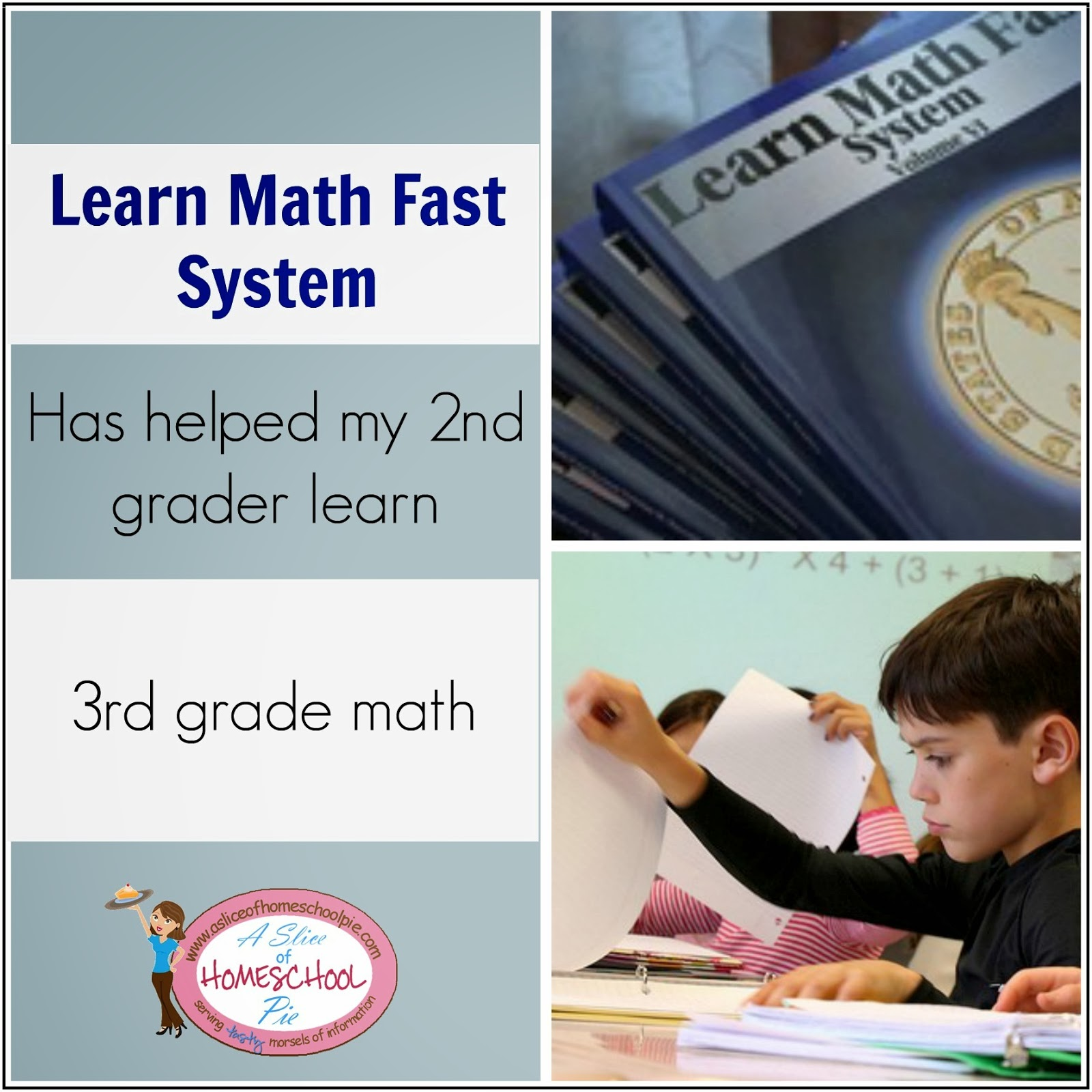 2nd Grader completing 3rd grade level math thanks to the Learn Math Fast System #math #homeschool #curriculum