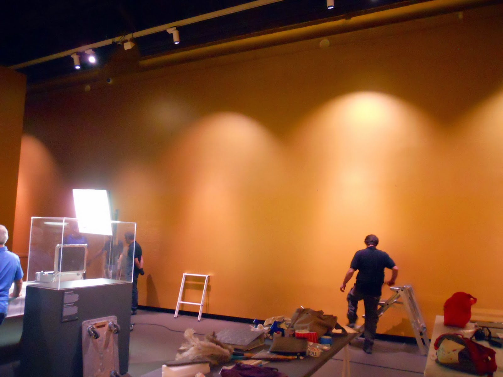 The last vestiges of the exhibition The Greek of Toledo being deinstalled at the Museo Santa Cruz.