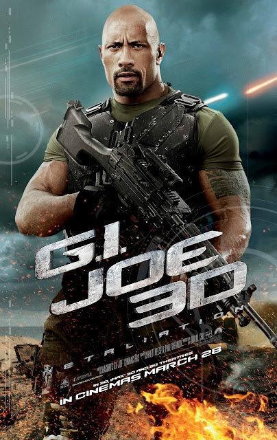 G.I. Joe: Retaliation 3D Character Movie Posters - Dwayne Johnson as Roadblock