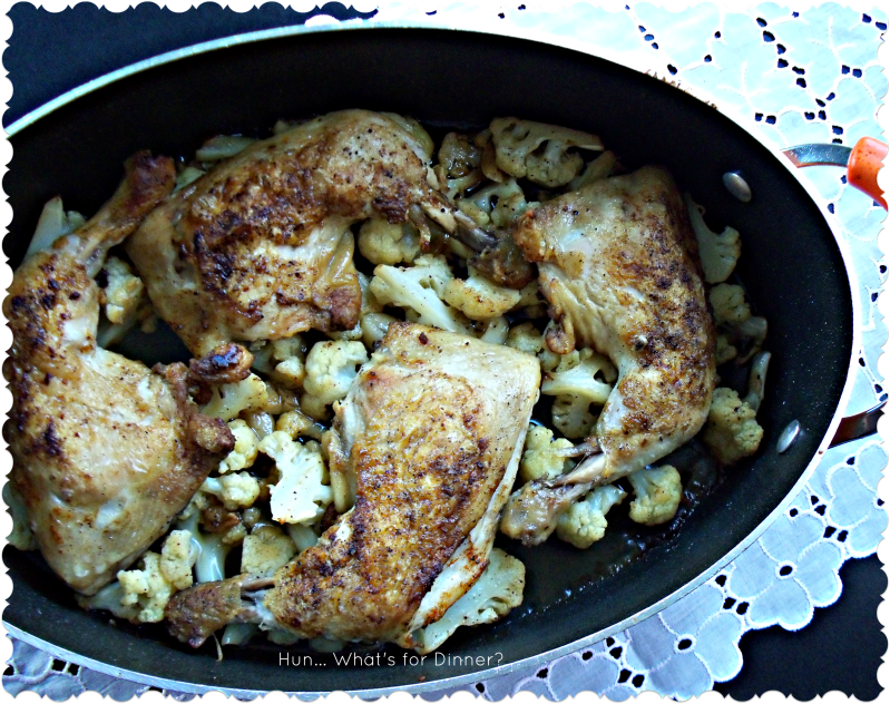 Hun... What's for Dinner? Roast Chicken and Cauliflower
