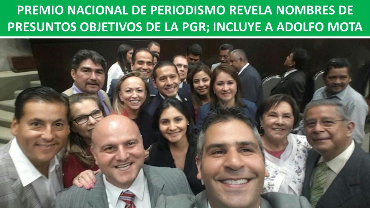 OBJETIVOS DE LA PGR; INCLUYE A ADOLFO MOTA
