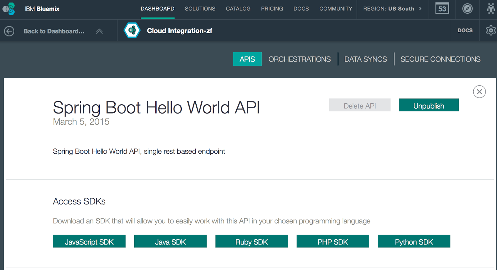 The blas from pas 2015 here is how we can access that api using a javascript sdk which we can download from the cloud integration service itself kristyandbryce Gallery